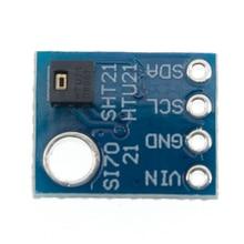 GY 21 HTU21D IIC/I2C Digital Temperature & Humidity Sensor Breakout Board Module For Weather Stations Humidor Control 3.3V