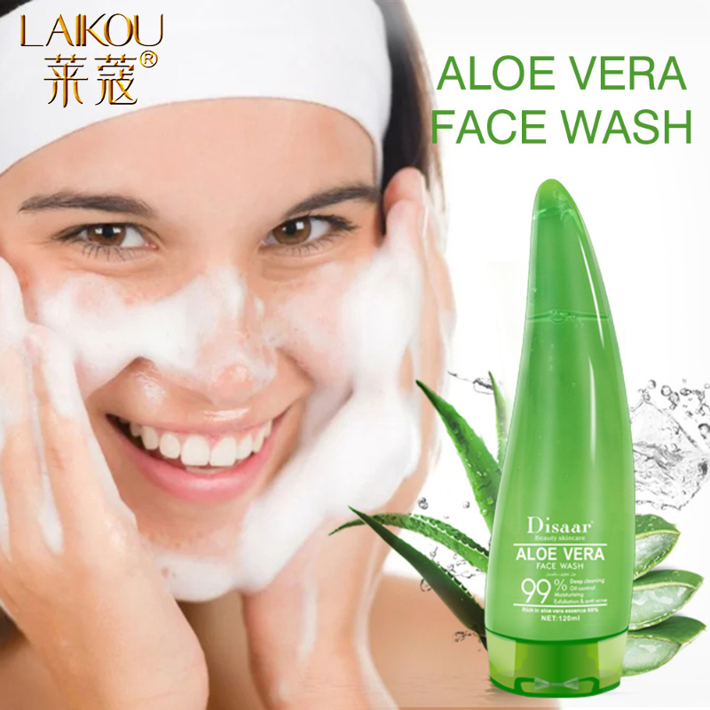 LAIKOU Aloe Extract Facial Cleanser Nourishing Cleanser Black Head Remove Oil-control Deep Cleansing Foam Shrink Pores Face Care