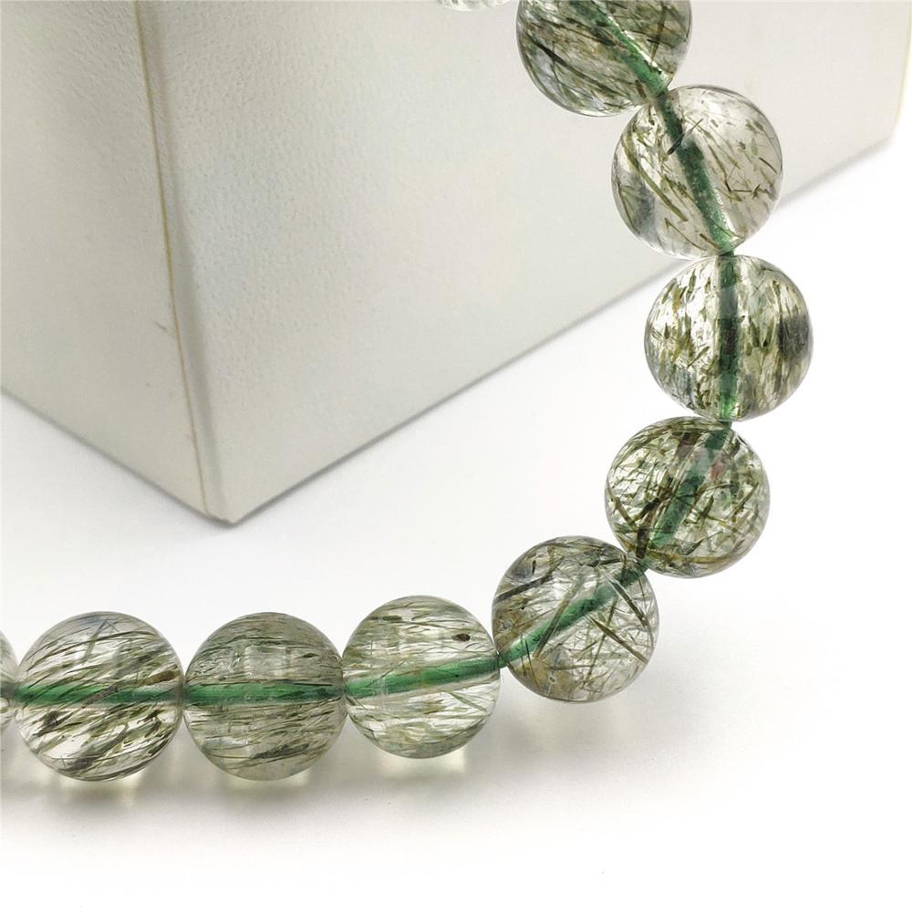 Green Rutilated Quartz Gemstone Pair A3334 Natural Clear Stone 47 x 13 x 4 mm
