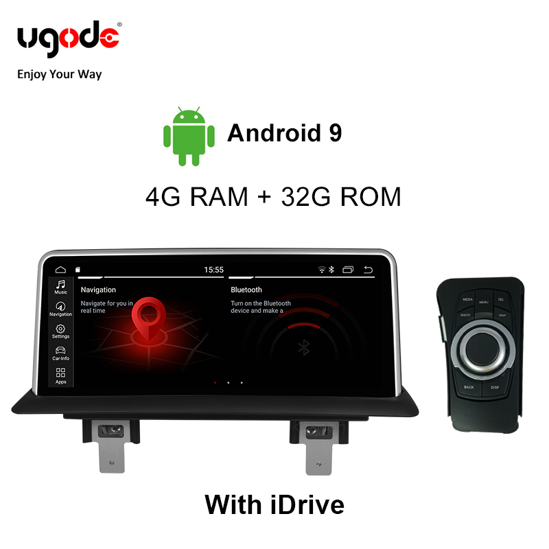 Ugode For <font><b>BMW</b></font> 1 Series E81 E82 <font><b>E87</b></font> E88 Car Multimedia Player <font><b>Android</b></font> <font><b>9.0</b></font> Plastic Metal 10.25 Inches Screen Monitor (2005-2012) image