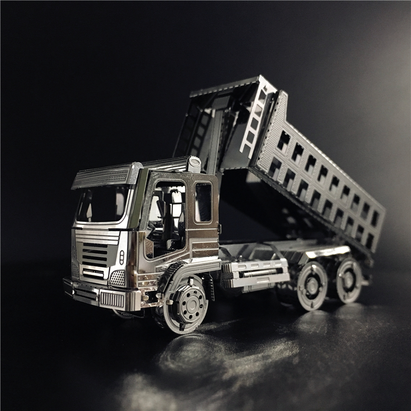 3D Metal puzzle Self-Dump Truck Engineering vehicle Assembly Model DIY 3D Laser Cut Model puzzle toy for adult