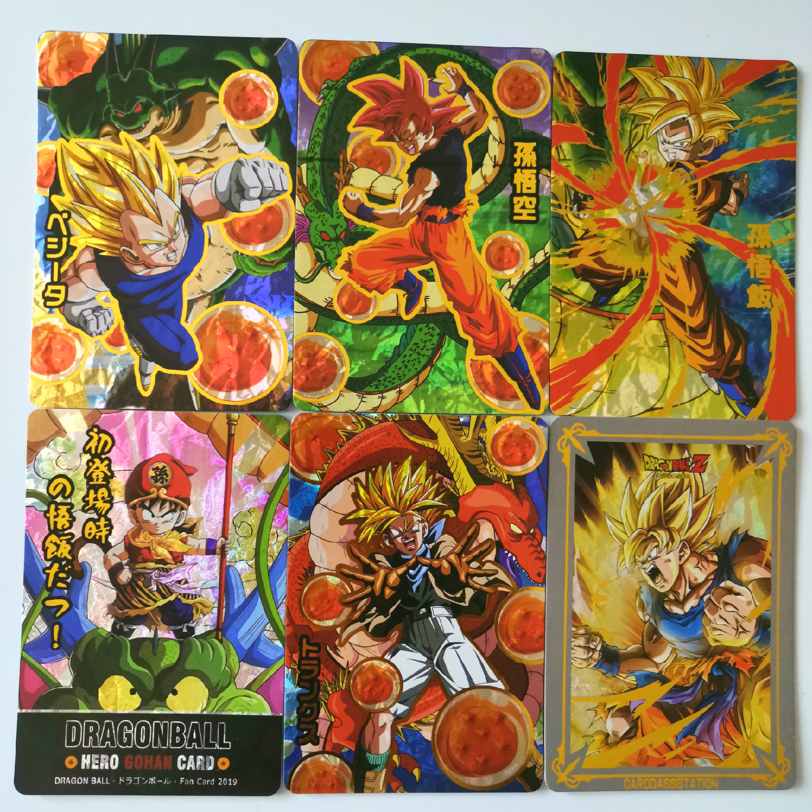 32pcs/set New Super Dragon Ball Z Hot Stamping Process Heroes Battle Card Ultra Instinct Goku Vegeta Game Collection Anime Cards