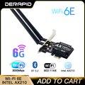 3000 Мбит/с WiFi6E Intel AX210 Bluetooth 5,2 Dual Band 2,4 г/с) Wi-Fi 5 ГГц Wi-Fi кард-802.11AX/AC PCI Express Беспроводной сетевая карта адаптер для ПК