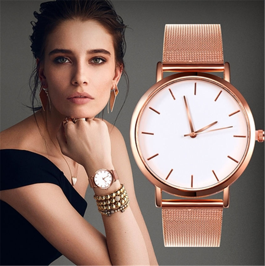 Fashion Women Watches Personality Romantic Rose Gold Strap Watch Women's Wrist Watch Ladies Clock Reloj Mujer Zegarek Damski