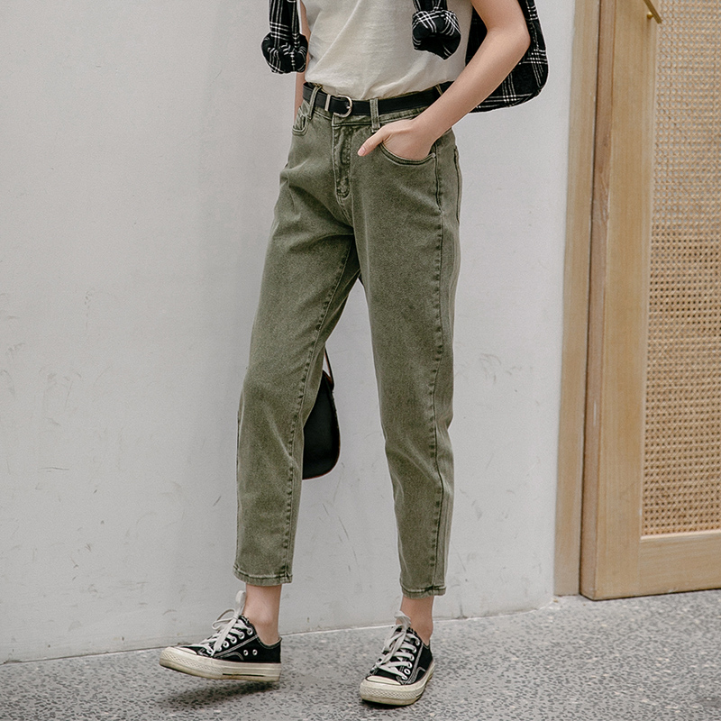 JEANSALLIANCE Women Casual Pants  Washed Harem Pants Loose   Boyfriends Mom Jeans High Waist Jeans