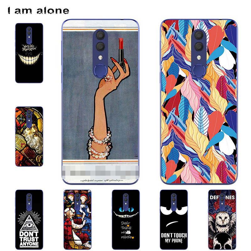 Phone Cases For <font><b>Alcatel</b></font> 1X (2019) <font><b>5008Y</b></font> 5.5 inch Soft TPU Bags Mobile Cute Cartoon Printed For <font><b>Alcatel</b></font> 1X 2019 Free Shipping image