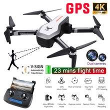 SG906 Профессиональный gps складной Дрон с камерой 4K FPV WiFi широкоугольный оптический поток бесщеточный Радиоуправляемый квадрокоптер вертолет детская игрушка