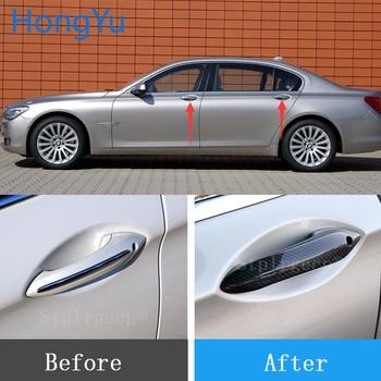 For BMW 7 series F01 F02 F03 F04 730Li 740Li 750Li 730D 750D 760LI 09-15 Carbon Fiber Auto Door Handle Knob Exterior Trim Covers