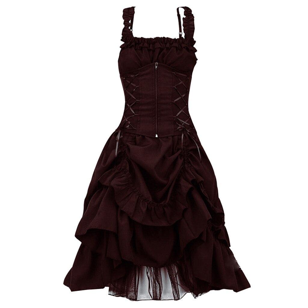 Fashion Women s Dress Women Gothic Vintage Dress Steampunk Retro Court Princess Sleeveless Dress vestido ladies