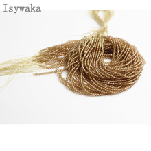 Isywaka Champagne Color 2mm 170pcs Indian crystal beads face