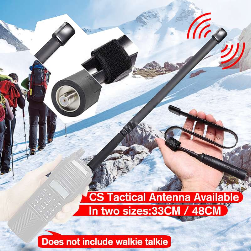 AR-152A Tactical Antenna SMA-Female Dual Band VHF UHF 144/430Mhz Foldable For Walkie Talkie