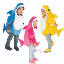 1-4 лет, носки для малышей, для всей семьи с изображением акулы для детей, платье для дня рождения, вечерние, костюм на Хэллоуин, Детский костюм