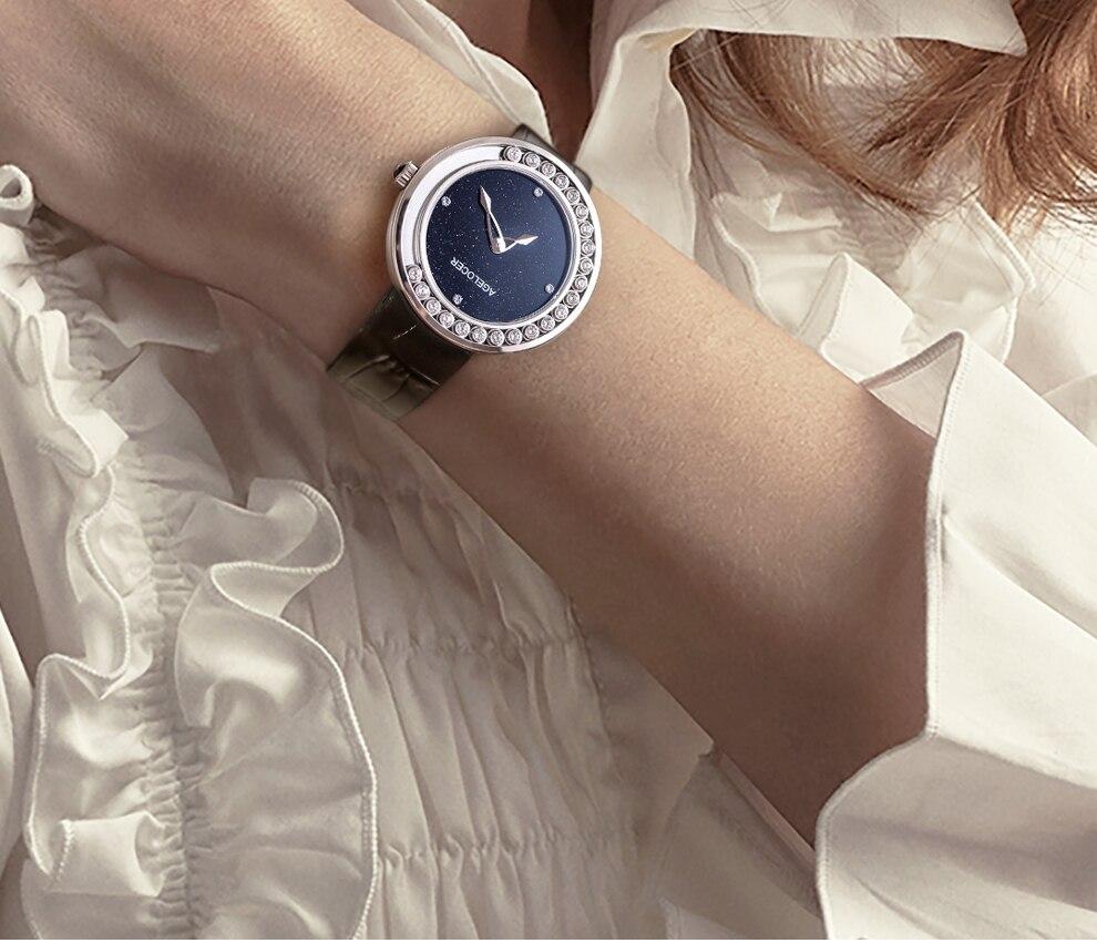 luxo à prova d3água relógio de quartzo