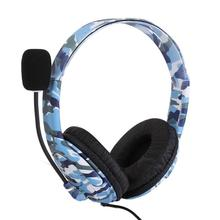 Camouflage Gaming Headset 3.5mm Wired Stereo Earphone Game Headphones With Microphone For Xbox One PS4 PC Laptop Gamer