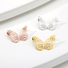 2019 Personality Womens Stud Earrings Butterfly Golden Stainless Steel Ornaments Animal gift bff