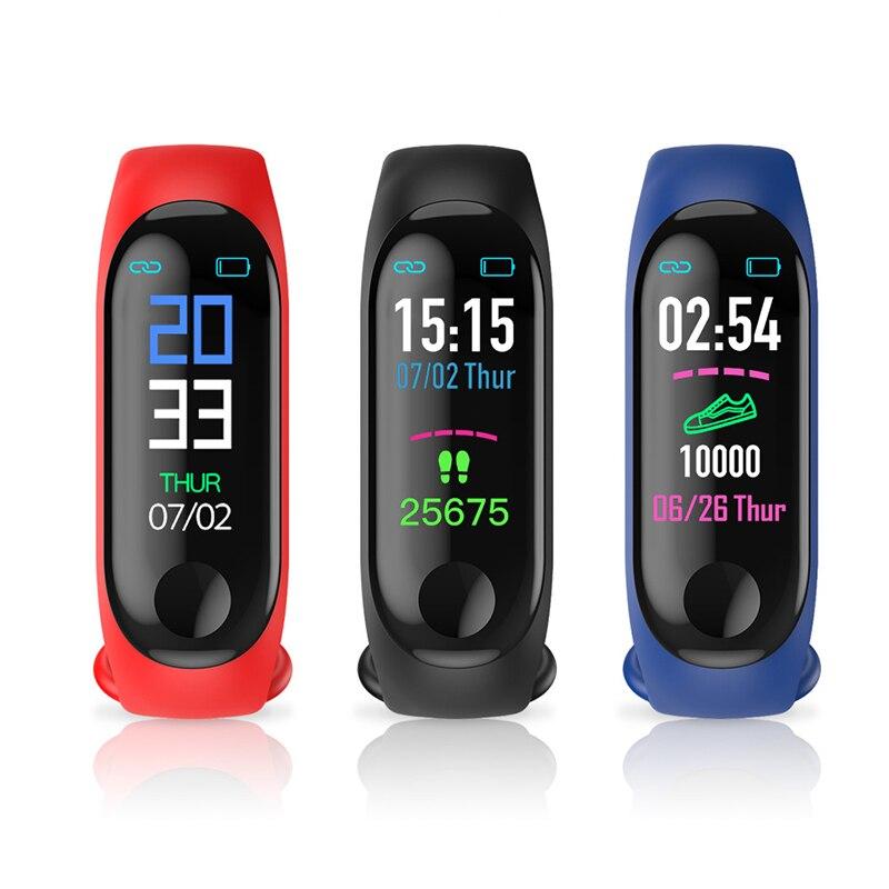 M3 Sport Waterproof Fitness Smart Watch Wristband Waterproof Touch Screen Bluetooth Control Fitness Pedometer smart bracelet