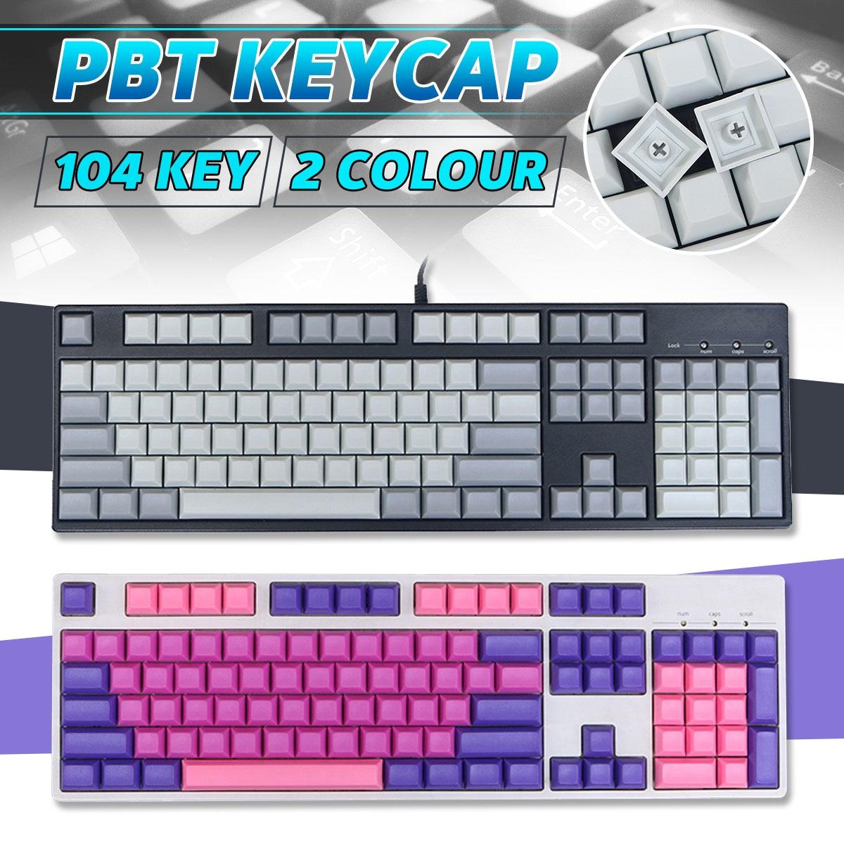 INSMA 104 Keys PBT Blank Keycaps DSA Profile Key Caps Set for Mechanical Keyboard for Gaming Mechanical Keyboard Keyboards     - title=