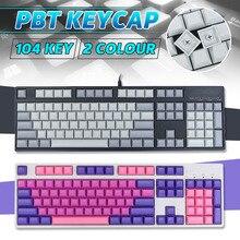 INSMA-teclas PBT en blanco, juego de teclas de perfil DSA para teclado mecánico para juegos, Teclado mecánico, 104 teclas