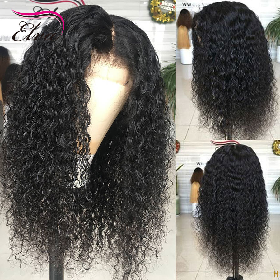 Elva Hair 150% Full Lace Human Hair Wigs For Black Women Curly Brazilian Remy Hair Wig Pre Plucked With Baby Hair Bleached Knots