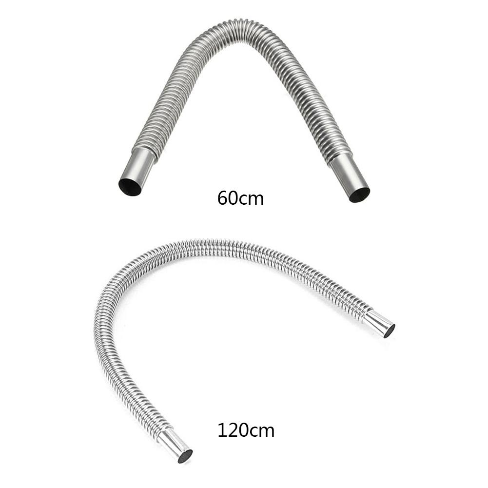 120cm Stainless Steel Air Heater Exhaust Pipe For Car Heater Parking Air Heater Fuel Tank Diesel Gas Vent