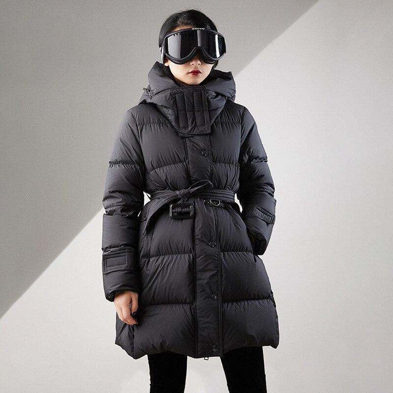 Winter Coat Women 90% White Duck Down Jacket Women Korean Down Coat Slim Puffer Jacket Warm Parka Casaco 0033 YY1423