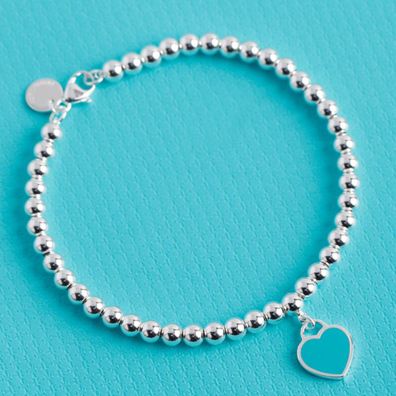 High polished 925 sterling silver beads strand charm bracelet for women girls lover Best gift fine jewelry hot sale