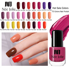 NEE JOLIE 73 Colors Solid Color Nail Art Polish Lacquer Long Lasting Manicure Nail Art Decoration DIY Designs Nail Polish 3.5ML 3d nail art fimo soft polymer clay fruit slices cartoon for nail manicure sticker cell phones diy designs wheel decoration czp35
