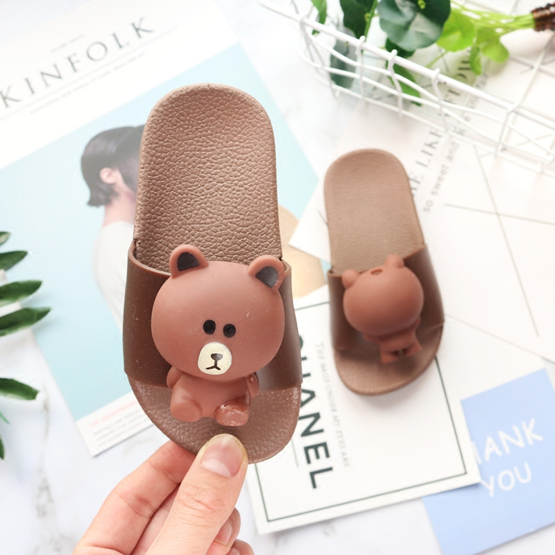 Kids Shoes Summer Cartoon Rabbits Slippers Boys Sandals Casual Non-slip Beach Shoes Swimming Slipper Girls Bathroom Flip Flops