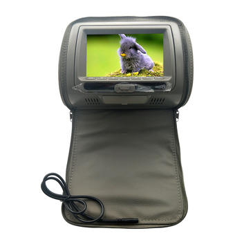 7 Inch Infrared Car Headrest HD Video LCD Screen Monitor DVD Player Game Multifunction Speaker USB Adjustable Zipper Cover