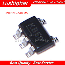 100PCS MIC5205-5.0YM5 SOT23-5 MIC5205-5.0 SOT MIC5205 5V KB50 SMD