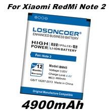 Os recém chegados 4900mah bm45 substituição da bateria para original xiaomi redmi note 2 bateria hongmi arroz vermelho note2 em estoque