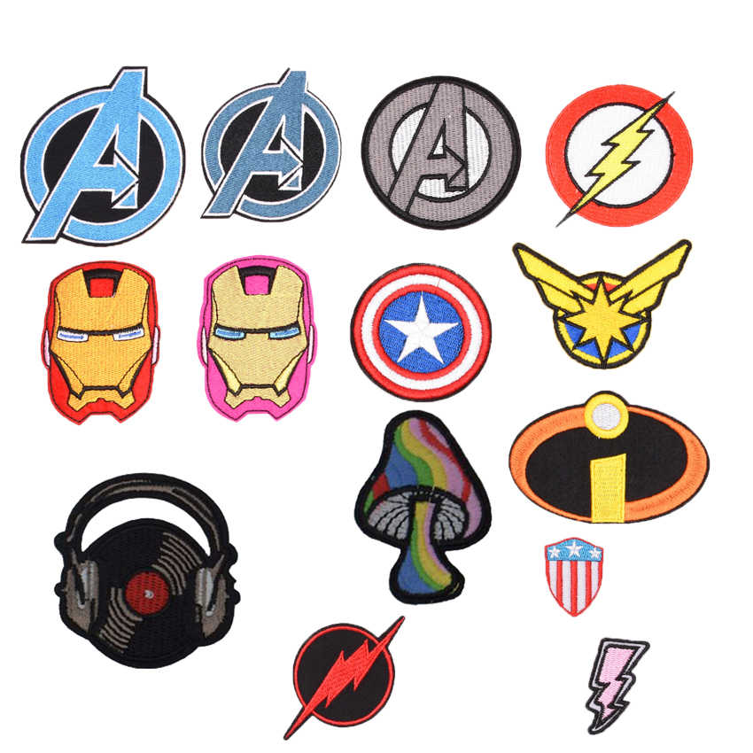 1Pcs New Arrival Cartoon Movie patch Hero Avengers Embroidered Iron on Patches for Clothing DIY Clothes Applique patchworks