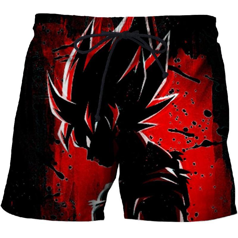 Dragon Ball 3D Printing Summer Beach Pants Men's Quick-drying Swim Trunks Fun Black Shorts Factory Direct 2019 New
