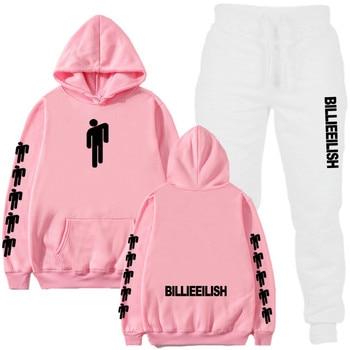 2019 Billie Eilish Autumn Winter Tracksuit Women Men Sweatshirts Casual Suit Women Clothing Suit Jogging Pant Sporting Suit 1