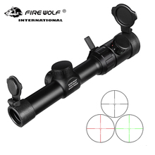 1-4x20rifle scope  red with illuminated tactical rangefinder mask Caza rifle pocket mirror aerial optical hunting