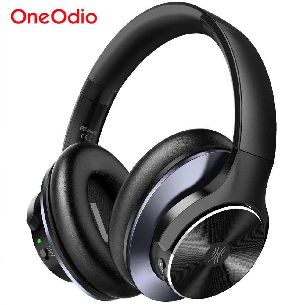 Oneodio A10 Active Noise Cancelling Wireless Bluetooth Headphones 40Hrs Bluetooth 5 0 Headset With Microphone Fast Charging AAC