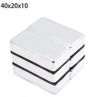 Magnetics 30 pcs x large wholesale super powerful magnets Lock craft Rare earth neodymium 40x20x10 mm N50 40 * 20 * 10 mm