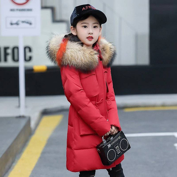 High Quality 2019 New Winter Girls Hooded Jacket Zipper Winter Coat For Girls Kids Padded Jacket Casual Children's Outerwear