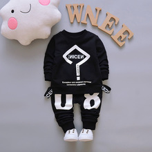 2pcs Letter Print Sweatshirt Children Clothing For Baby Boys Girls Kids Clothes Baby Clothes Girl Boy Fashion Spring Suit cheap ALIJUTOU Casual O-Neck Sets Pullover COTTON Unisex Full REGULAR Fits smaller than usual Please check this store s sizing info
