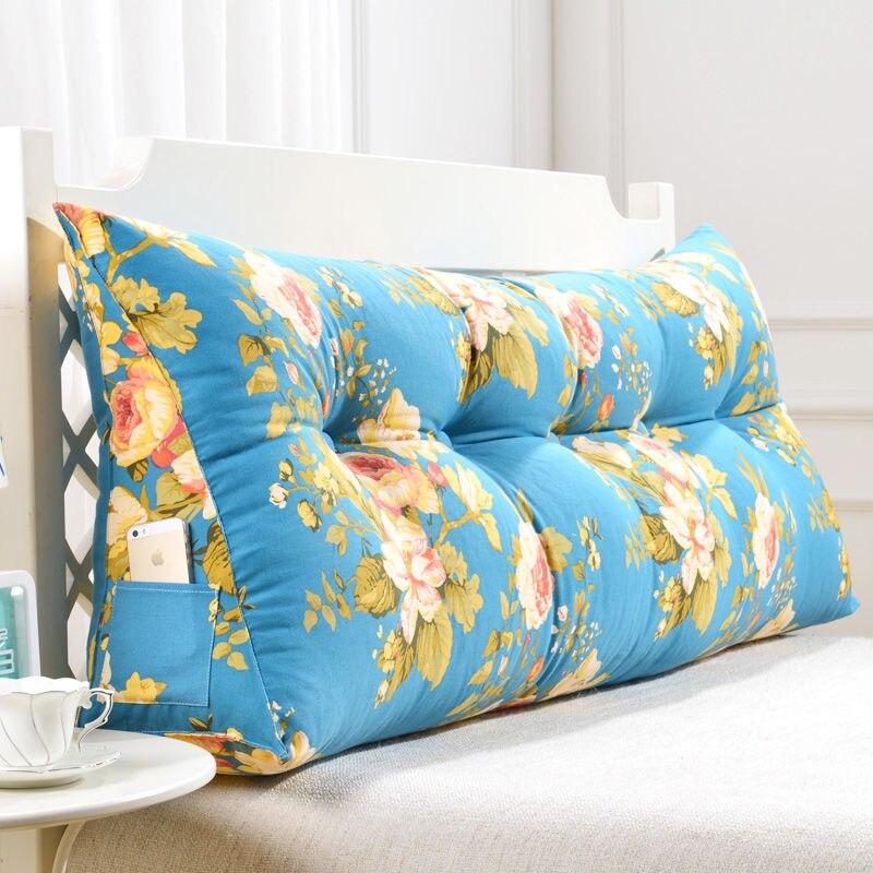 grande longo sofá almofada macio saco longo