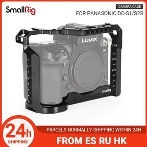 Image 1 - SmallRig caméra Cage pour Panasonic Lumix DC S1 /S1R Cage avec chaussure froide et lotan Rail pour S1/S1R tournage vidéo Cage  2345