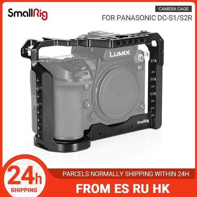 SmallRig caméra Cage pour Panasonic Lumix DC S1 /S1R Cage avec chaussure froide et lotan Rail pour S1/S1R tournage vidéo Cage  2345