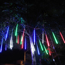 New Arrival 10 Tube 360 LEDs Solar Meteor Shower Rain Lights Outdoor Waterproof Christmas Solar String light for Wedding Party(China)
