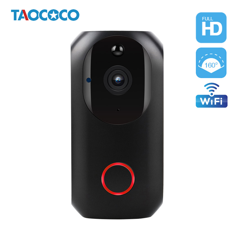 1080P Smart WiFi Doorbell Camera Wireless Video Doorbell Infrared Night Vision Motion Detection Alarm Doorphone Battery Cameras