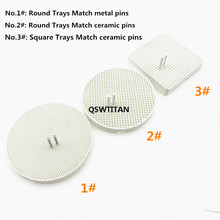 Trays Technician-Supplies Dental Pins Zirconia-Pins Honeycomb Firing Metal Square/round