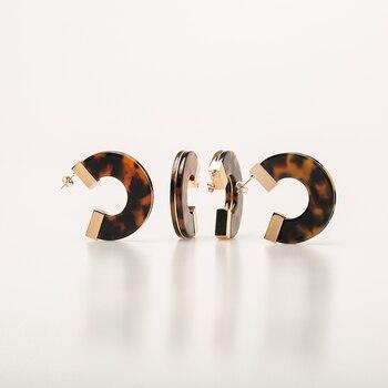 New letter Leopard Earrings Bohemian Acrylic Circle Tassel Suit Drop Set Women Resin Big Fashion Pearl Geometry Jewelry