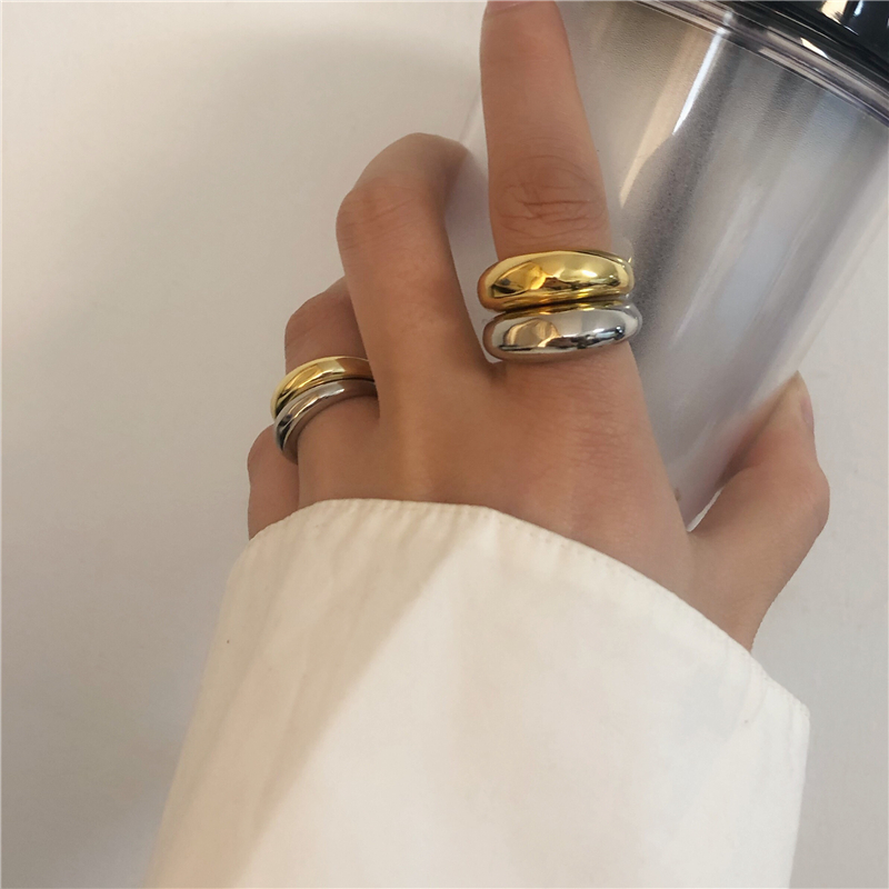 HUANZHI-2020-New-Trendy-Personality-Vintage-Simple-Glossy-Wide-Version-Opening-Adjustable-Rings-for-Women-l