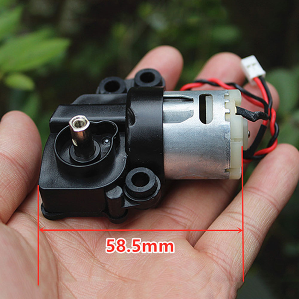 Micro Mini Electric Gear Motor 7-shaped WLWG DC 6V-12V 7.2V 9V Low Speed Reducer Worm Gearox Geared DIY Toy Car Boat Robot Model