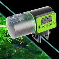 Alimentador de peixes automático inteligente  alimentador de peixes automático  dispensador com indicador lcd  temporizador  acessórios para aquário