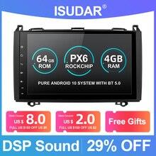 Idar r PX6 1 Din 안드로이드 10 자동 라디오 메르세데스 벤츠/단거리 선수/Viano/Vito/B 클래스/B200/B180 차량용 멀티미디어 DVD 플레이어 GPS FM